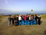 Beach Clean-up with Loreto Transition Year students